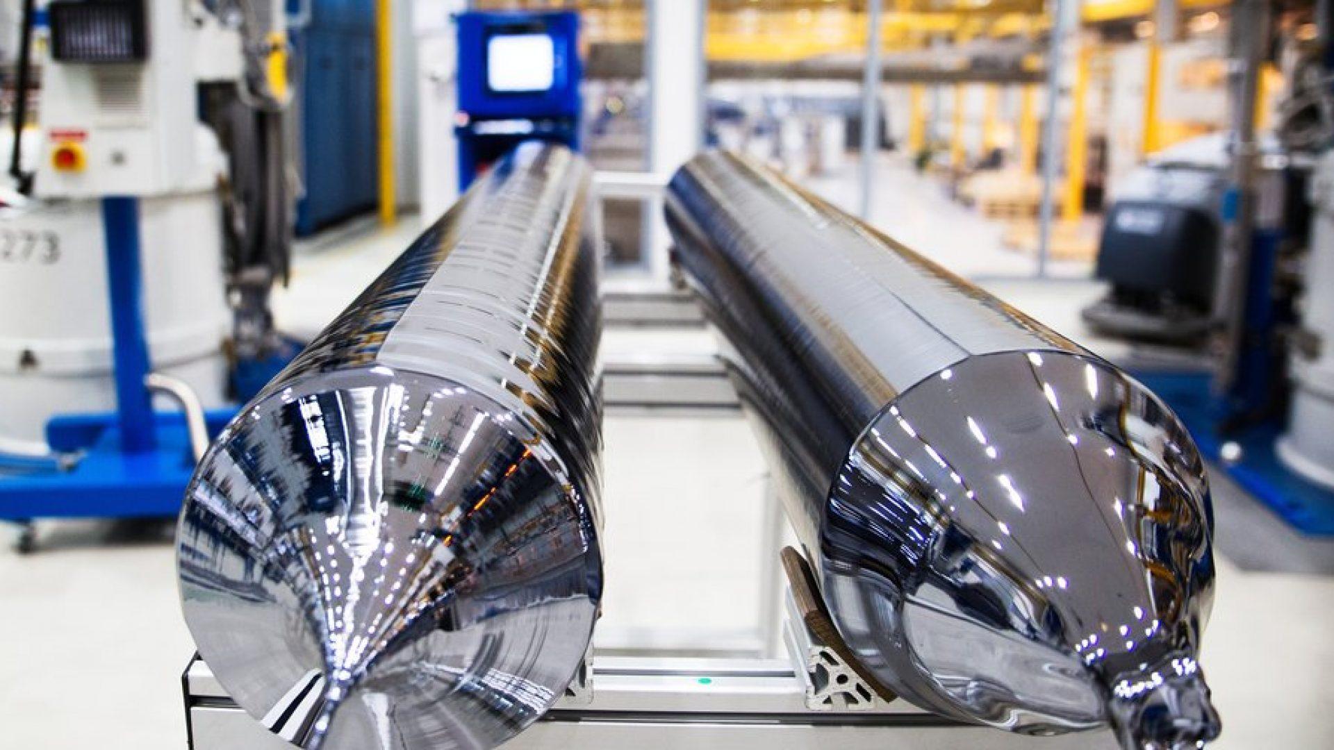 Produksjon av solcelle i Glomfjord